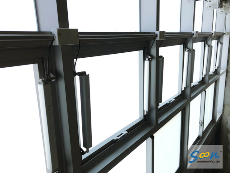 SHEV System In New MRT Station - photo 2 Soon Industrial Co., Ltd. Industrial windows & doors Aluminium/Zinc Metallic/Silver