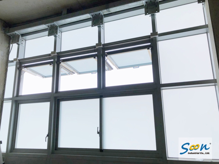 SHEV System In New MRT Station - photo 5 Soon Industrial Co., Ltd. Industrial windows & doors Aluminium/Zinc Metallic/Silver