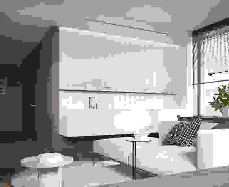 Апартаменты в Духовском переулке Кухня в стиле минимализм от background архитектурная студия Минимализм