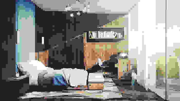 Bedroom Mario Bernaudo Camera da letto in stile scandinavo Legno