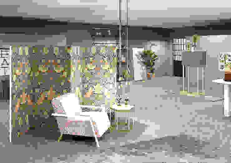 Progetto Gaia Cavagna Negozi & Locali commerciali moderni Rosa
