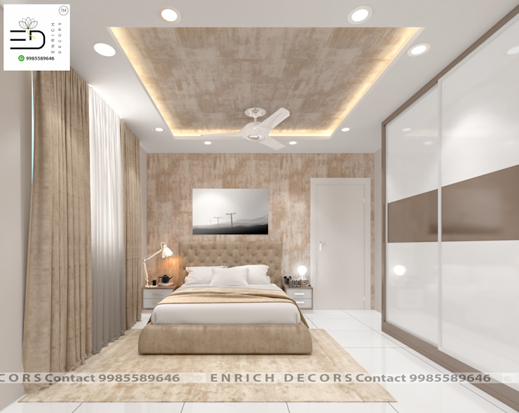 Guest Bedroom - Wardrobe, Furniture View by Enrich Interiors & Decors Modern