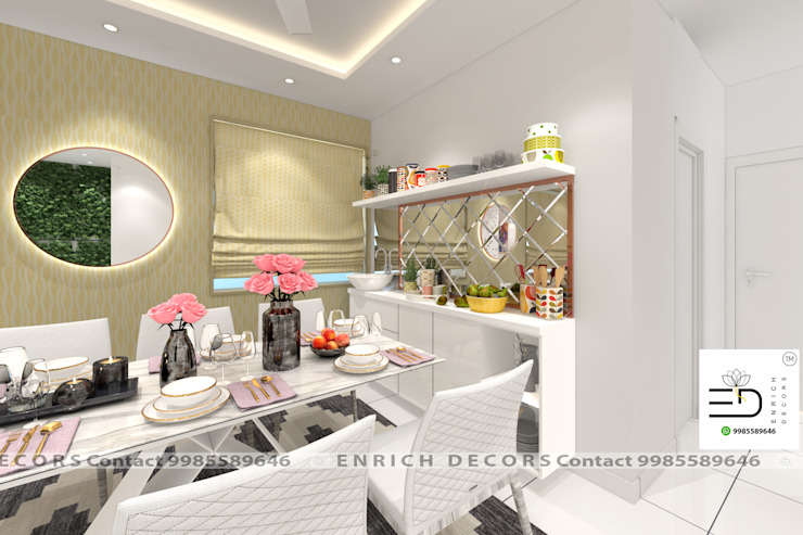 Crockery Unit Modern dining room by Enrich Interiors & Decors Modern