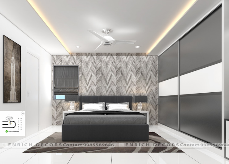 Wardrobe Guest Bedroom by Enrich Interiors & Decors Modern