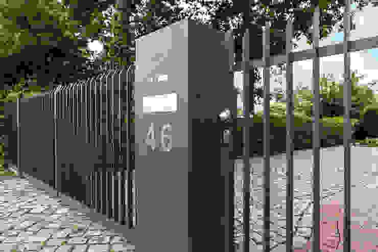 Nordzaun Minimalist style garden Aluminium/Zinc Grey