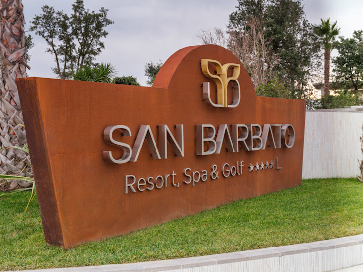 lamberti design srl Hotels Iron/Steel Wood effect