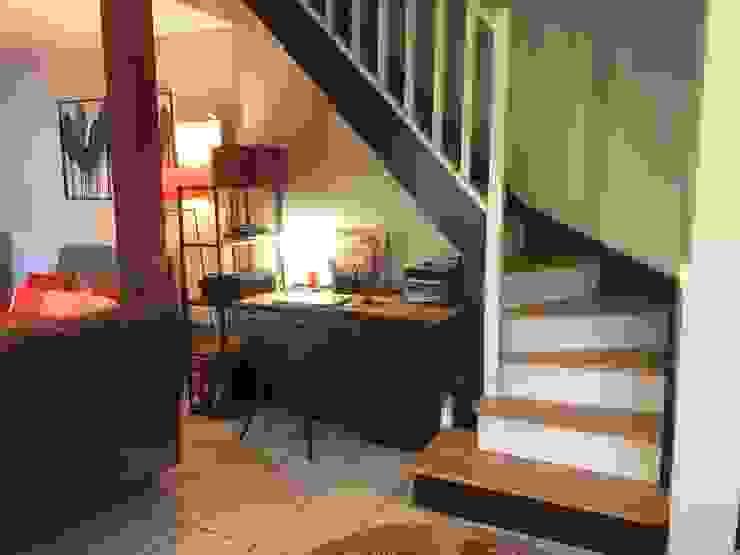 Escalier relooké C'LID INTERIEURE Escalier Bois Noir