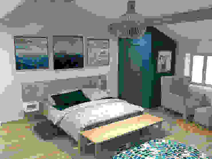 Projet 3D d'une chambre parentale par C'LID INTERIEURE Moderne