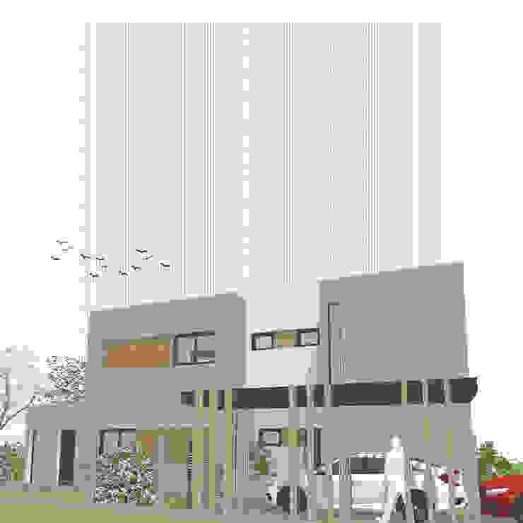 Casa Pilar del Este - Vista Este de D4-Arquitectos Moderno Madera Acabado en madera
