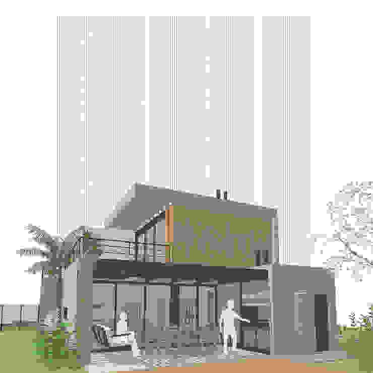 Casa Pilar del Este - Vista SO de D4-Arquitectos Moderno Madera Acabado en madera