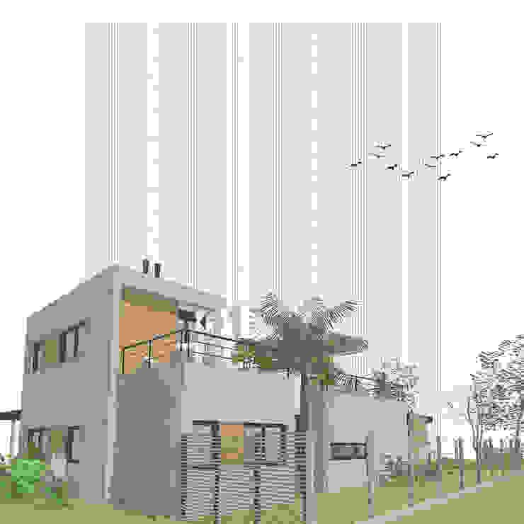 Casa Pilar del Este - Vista NO de D4-Arquitectos Moderno Madera Acabado en madera