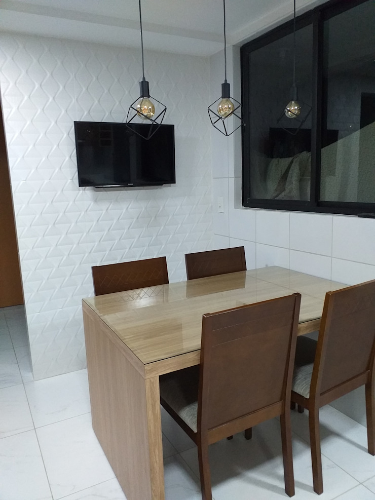 Feng Shui Suly Barreto KitchenTables & chairs MDF Wood effect