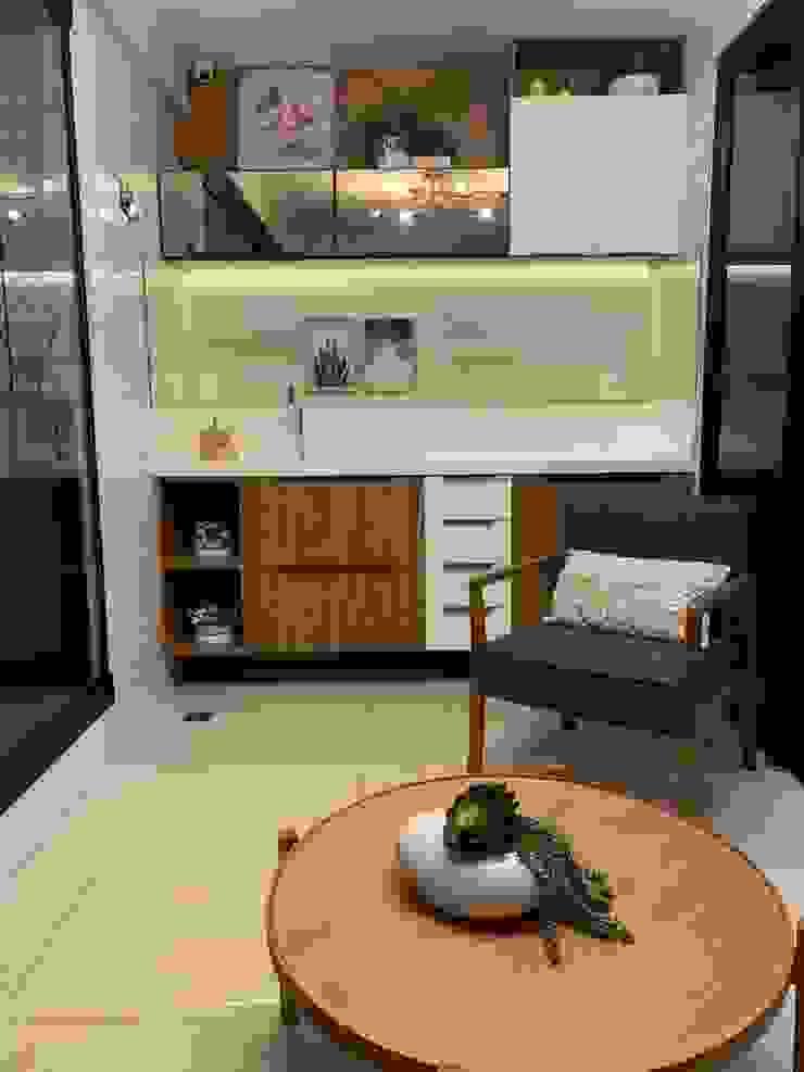 Feng Shui Suly Barreto Balconies, verandas & terraces Furniture Katun Blue