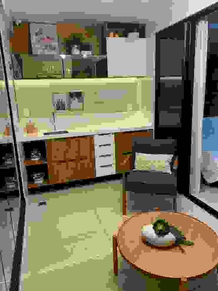 Feng Shui Suly Barreto Balconies, verandas & terraces Furniture MDF Wood effect