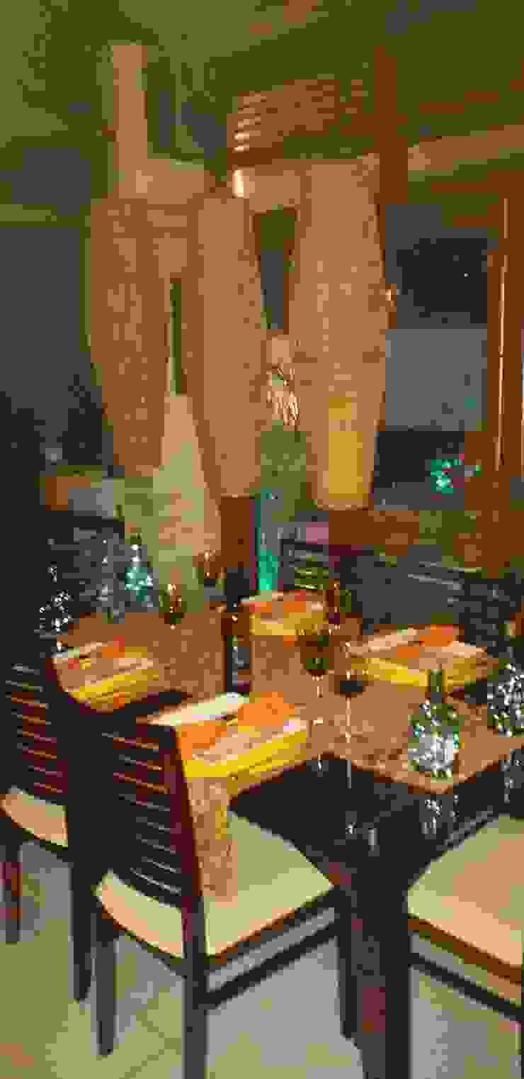 Feng Shui Suly Barreto Balconies, verandas & terraces Lighting Serat Alami Amber/Gold