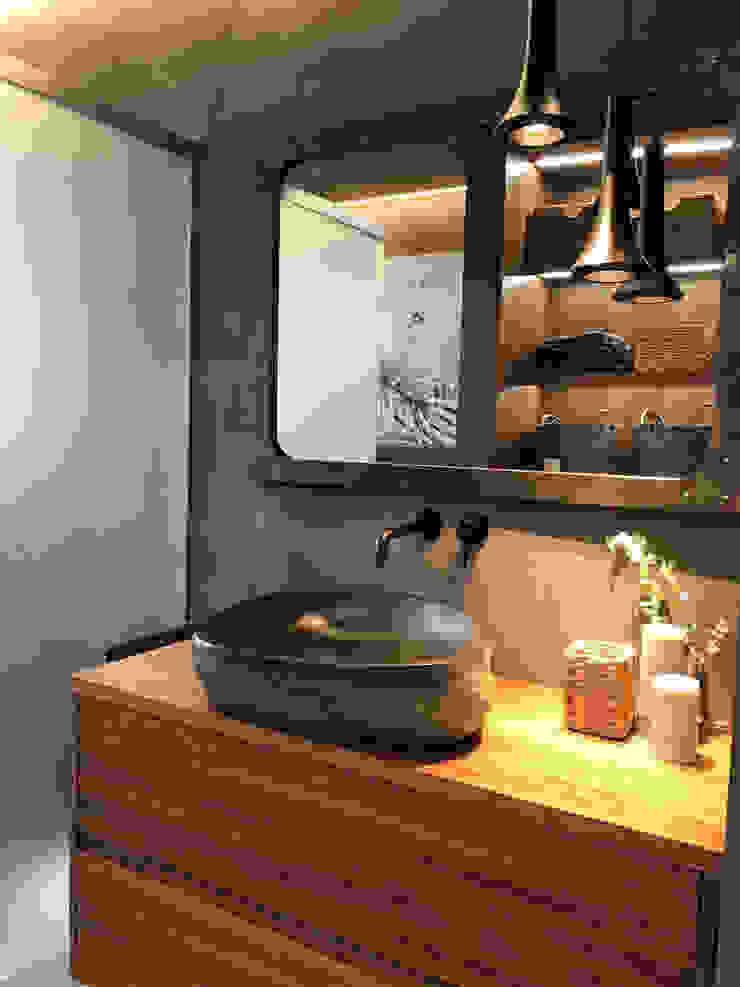 A interiorismo by Maria Andes ห้องน้ำ คอนกรีต Grey