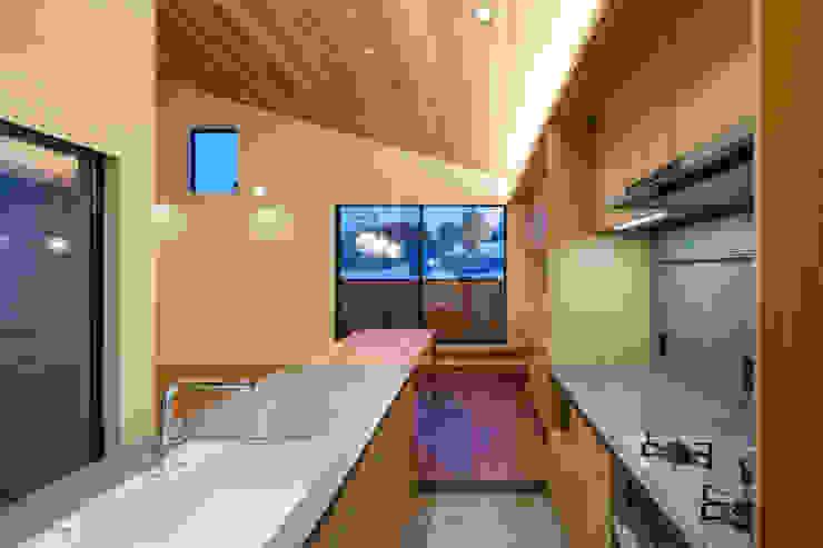 設計事務所アーキプレイス Kitchen Ceramic Wood effect
