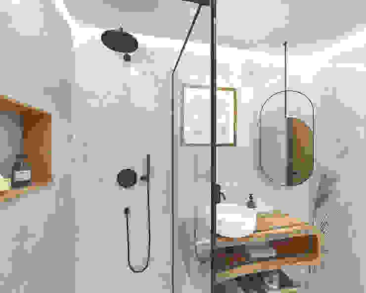 Projeto 3D - WC Amazónia Smile Bath S.A. Casas de banho tropicais Madeira Acabamento em madeira