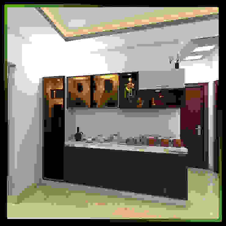 2 Modern corridor, hallway & stairs by Magnon India Modern
