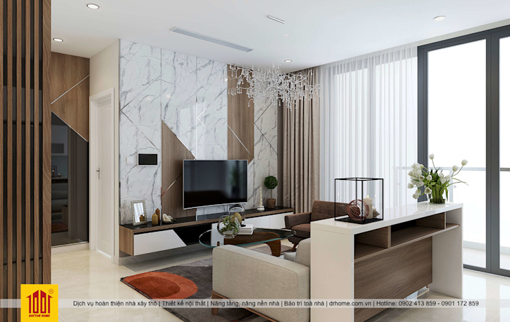 Hoan Thien Noi That Can Ho Vinhome Golden River Cong ty TNHH Sua chua nha Doctor Home Phòng khách