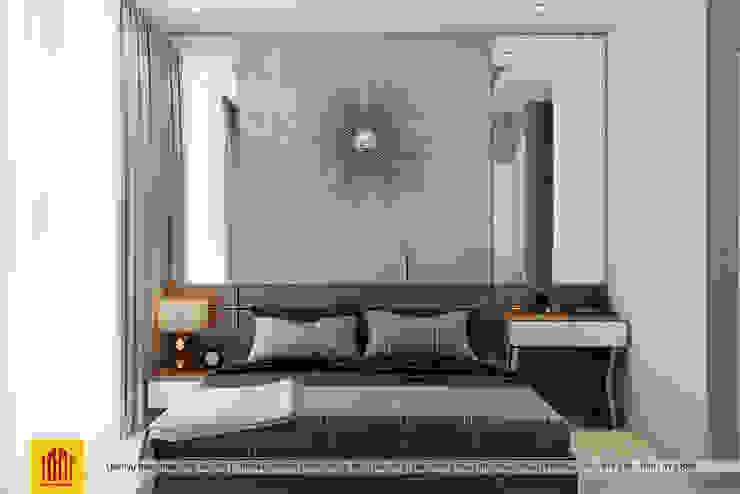Hoan Thien Noi That Can Ho Vinhome Golden River Cong ty TNHH Sua chua nha Doctor Home Phòng ngủ phong cách hiện đại
