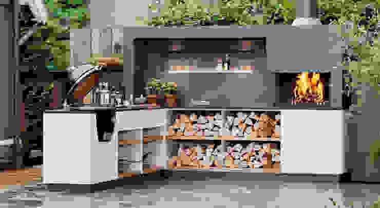 Beschreibung Freiluftküche   the real outdoor kitchen KücheSchränke und Regale