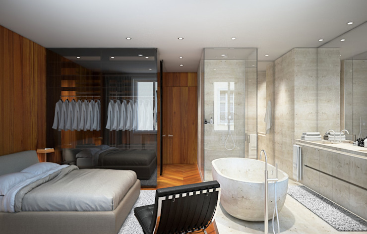 Arch+ Studio Modern style bedroom White