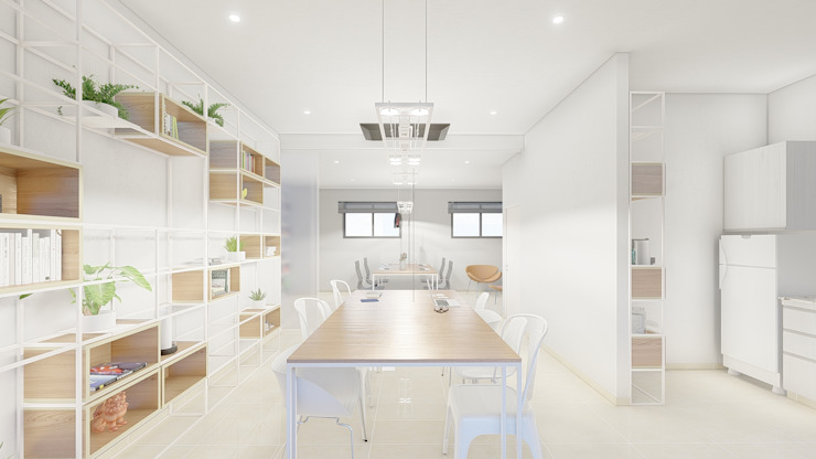 ARBOL Arquitectos Scandinavian style study/office
