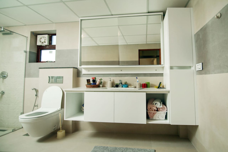 iCLOUD Homes Trivandrum (CUSTOMIZED) Lemon Interior Designers Modern bathroom