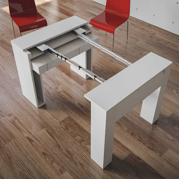 Eureka itamoby Ingresso, Corridoio & Scale in stile moderno Legno Bianco