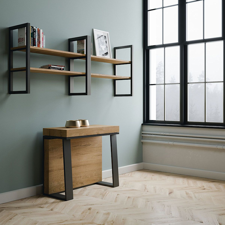 Asia itamoby Ingresso, Corridoio & Scale in stile moderno Legno Effetto legno