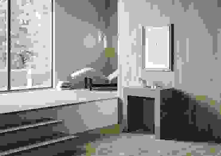 Allin itamoby Ingresso, Corridoio & Scale in stile moderno Legno Grigio