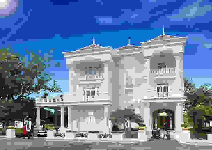 Công ty Kiến trúc Á Âu Maisons classiques Béton Blanc