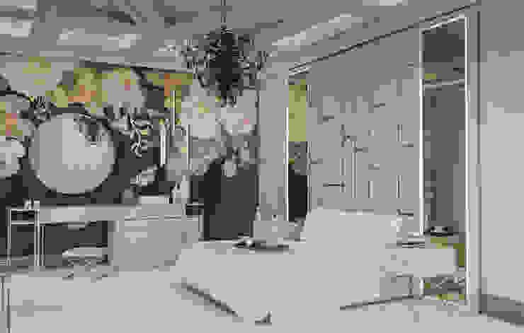 Hotel Odası Tasarımı Beyza Deniz Yaz Interiors Klasik Yatak Odası Bambu Altın Sarısı