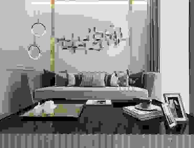 Otel odası oturma alanı Modern Oturma Odası Entrada Mimarlık Modern Ahşap Ahşap rengi