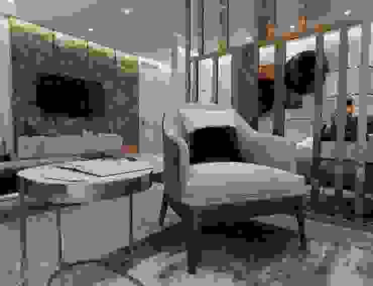 Otel odası oturma alanı Modern Oturma Odası Entrada Mimarlık Modern Mermer