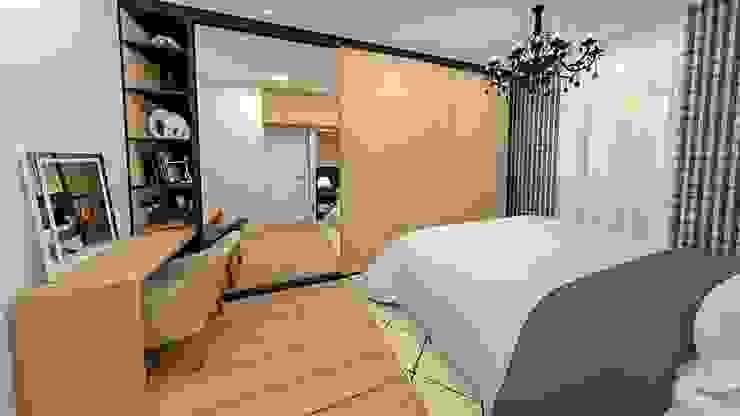 suíte 01 Studio Mies Arquitetura e Interiores Quartos modernos
