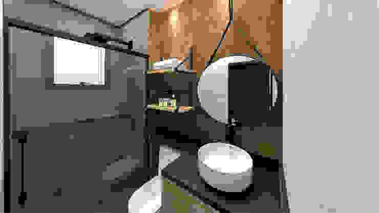 banho Studio Mies Arquitetura e Interiores Banheiros industriais