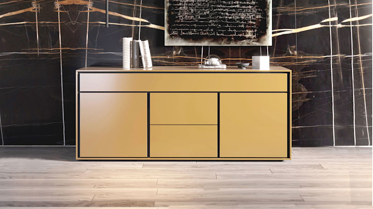 ITALIANELEMENTS Living roomStorage MDF Yellow