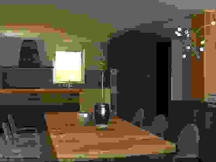 Vista cucina Sala da pranzo moderna di CLARE studio di architettura Moderno