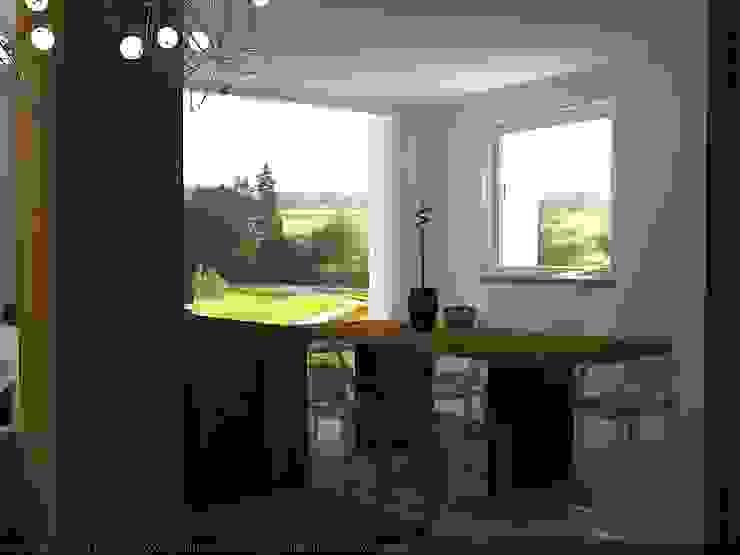 Seconda vista soggiorno con luce naturale Soggiorno moderno di CLARE studio di architettura Moderno