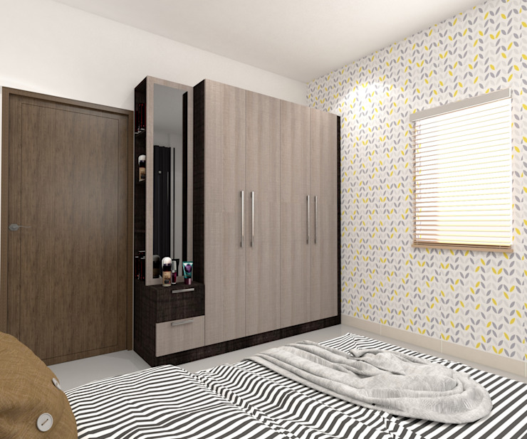 1 Modern style bedroom by Magnon India Modern