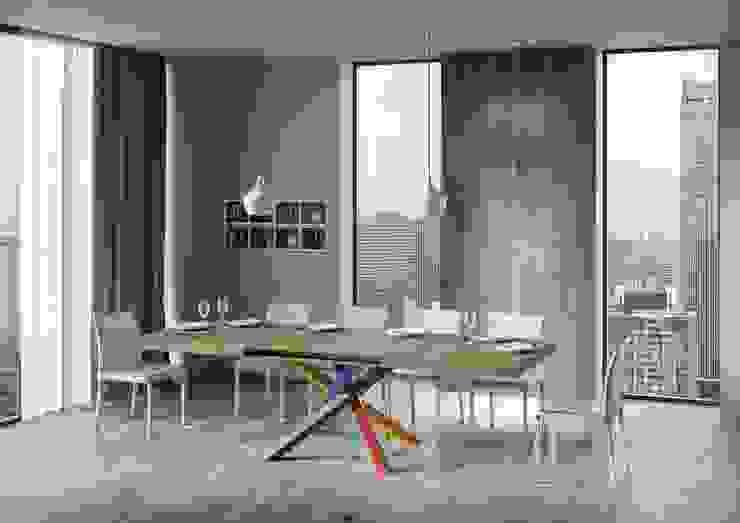 Tavolo Volantis Multicolor 4B itamoby Sala da pranzo moderna Legno Variopinto