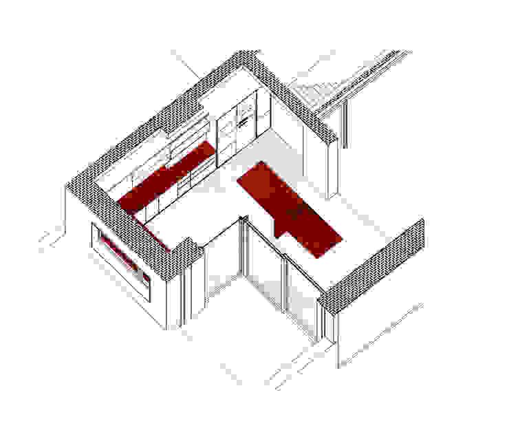 3D de ampliación de la casa DUQUE & SCHWARTZ Arquitectura y cooperación