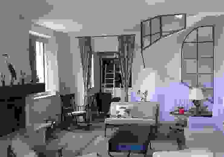 SunFlower's House-soggiorno- studio ID design di Silvia Franci Soggiorno in stile mediterraneo Legno Beige