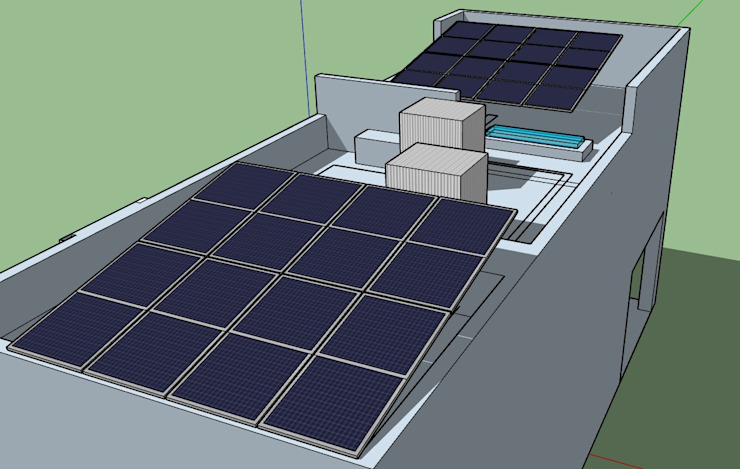 ESPECIALISTAS EN ENERGÍA SOLAR SOLAR MX INSTALACIÓN DE PANELES SOLARES Тераса на даху