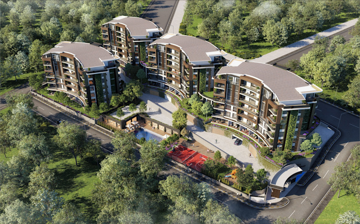Zeray İnşaat A.Ş. Habitats collectifs Marron
