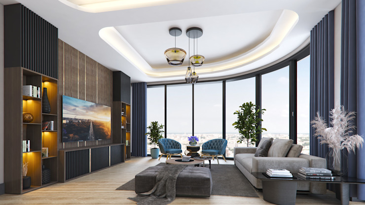Meva Anadolu Zeray İnşaat A.Ş. Modern Living Room
