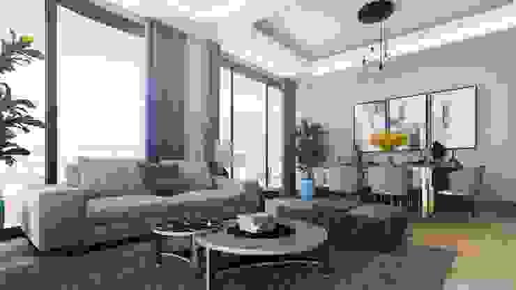 Zeray İnşaat A.Ş. Ruang Keluarga Modern