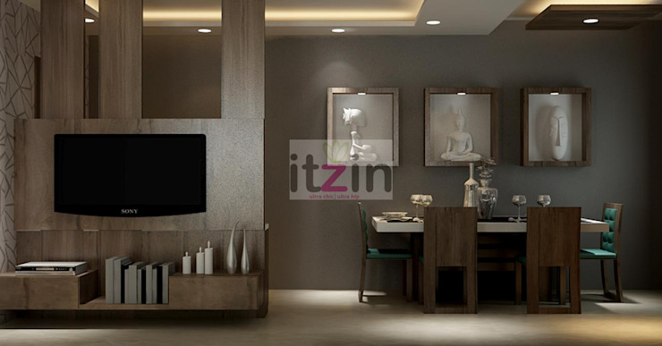 Breathtaking Interior Inspiration for a Modern Condo Itzin World Designs Modern living room